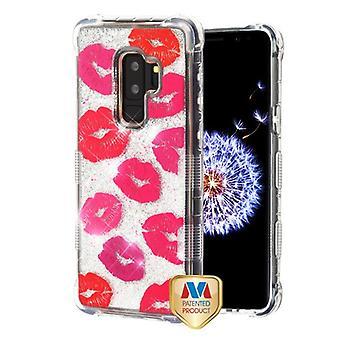 MYBAT Blissful Kisses/Silver TUFF Quicksand Glitter Lite Hybrid Protector Cover  for Galaxy S9 Plus