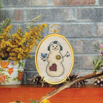 Snowman & Bluebird Mini Counted Cross Stitch Kit-3