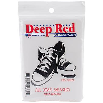 Dieprood Cling stempel All Star Sneakers 3 X 404282