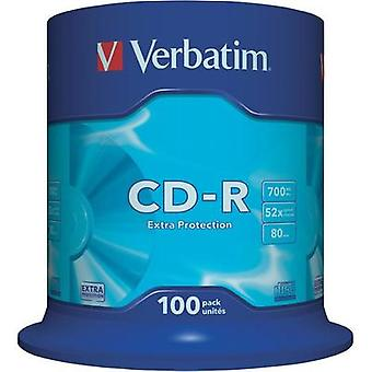 Blank CD-R 80 700 MB Verbatim 43411 100 pc(s) Spindle
