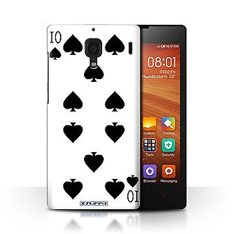 STUFF4 Case/Cover for Xiaomi Redmi/10 of Spades/Playing Cards