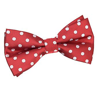 Dunkle rote Polka Dot Bow-Tie