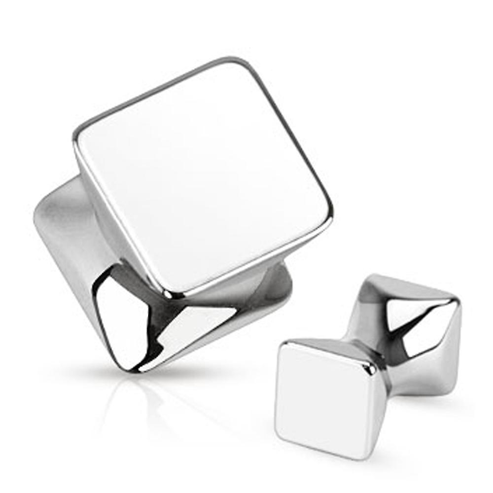Urban Male Pack of Five Surgical Stainless Steel Square Ear Stretching Flesh Plugs