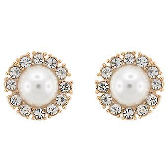 Clip-Ohrringe-Store, die große Perle Elfenbein und Crystal Runde auf Ohrringe Clip