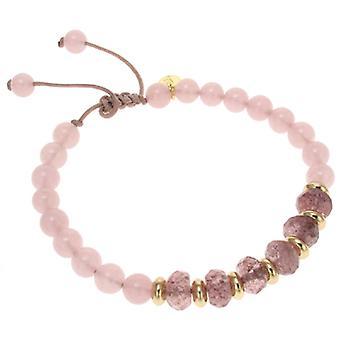 Lola Rose Trisha Bracelet Brown Sugar Rock Crystal & Pink Quartz