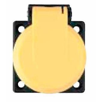 Flush-mount socket IP54 Yellow ABL Sursum 1561030