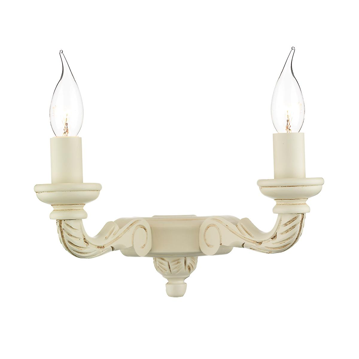 David Hunt TUD0933 Tudor Double Wall Bracket With A Cream Finish
