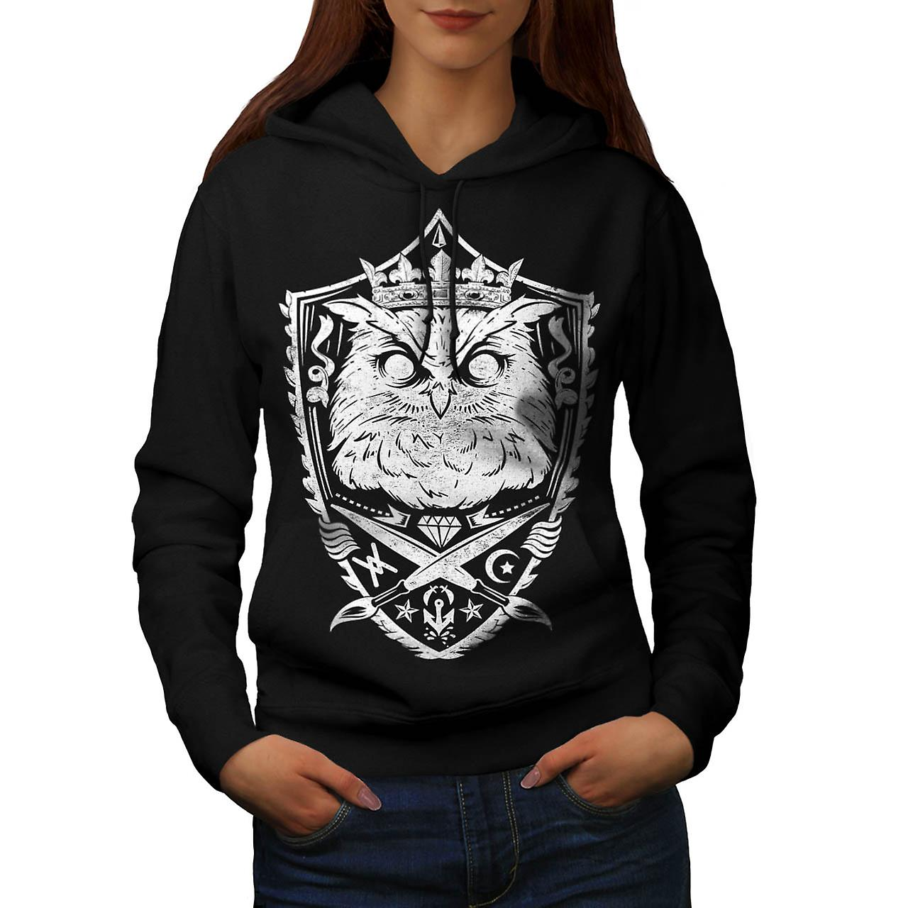 Danger Owl Kingdom Giant Bird Women Black Hoodie | Wellcoda