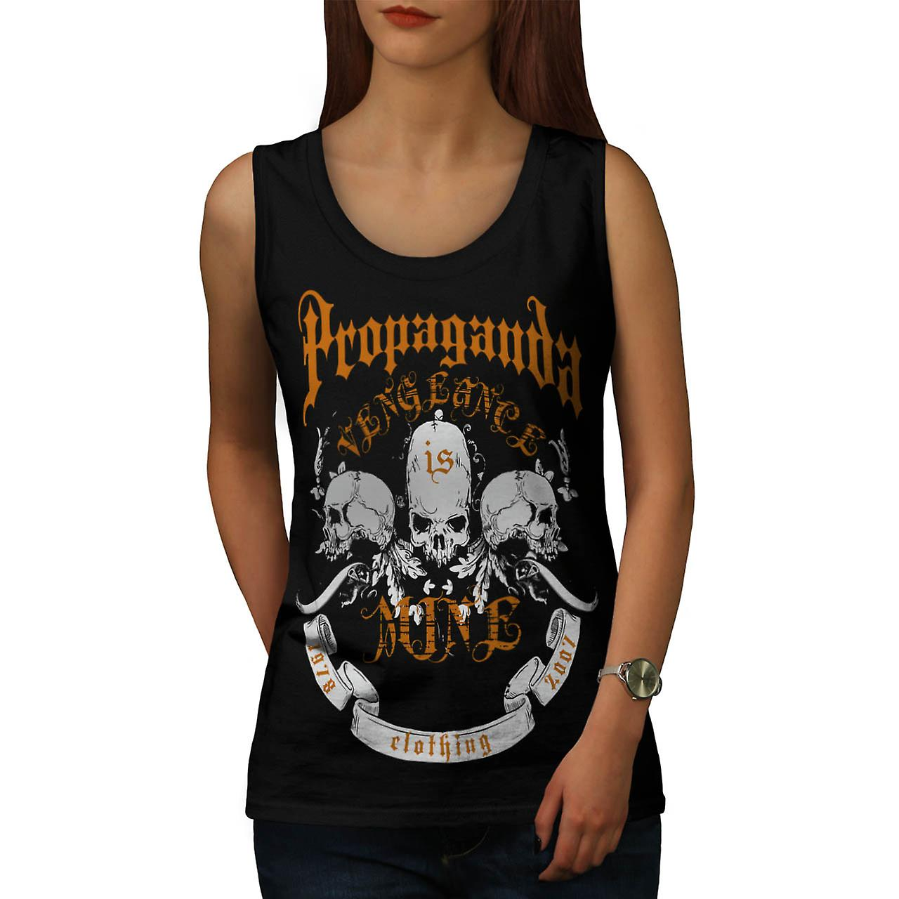 Propaganda Death Skull Vengeance Women Black Tank Top | Wellcoda