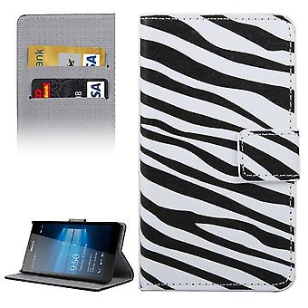 Mobile phone case pouch for mobile Microsoft Lumia 950 zebra stripes