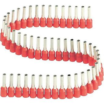 Ferrule 1 x 1 mm² x 8 mm Partially insulated Red Vogt Verbindungstechnik 470308.00050 50 pc(s)