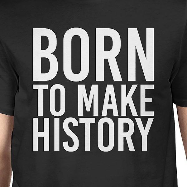 Ur się historia męskie czarne koszule zabawny krótki rękaw T-shirt