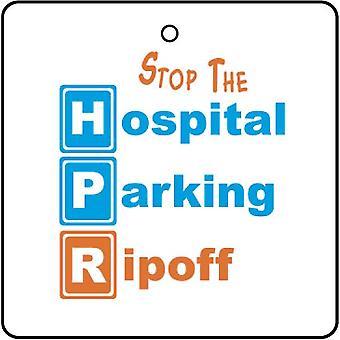 Hospital Parking estafa ambientador