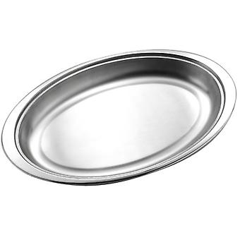 14 INCH OVAL OPEN VEGETABLE DISH STAINLESS STEEL SERVING DISH BOWL PLATTER