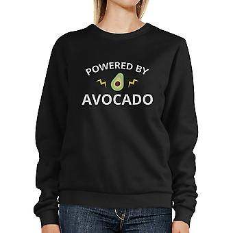 Powered By Avocado Black Sweatshirt Gift Ideas For Avocado Lovers