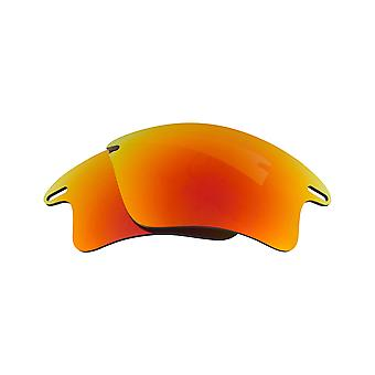 New SEEK Polarized Replacement Lenses Oakley FAST JACKET XL Fire Red Mirror
