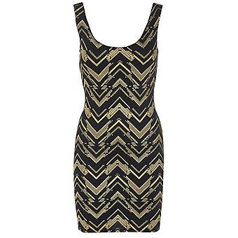 Zig Zag Sleeveless Bodycon Dress DR465-10