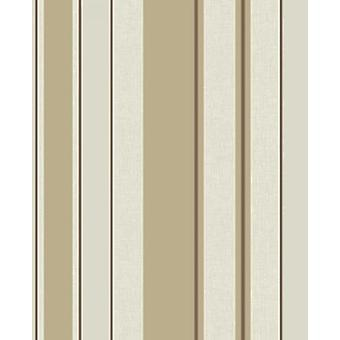 Fine Decor Cameo Striped Textured Wallpaper Vinyl Cream Brown Beige