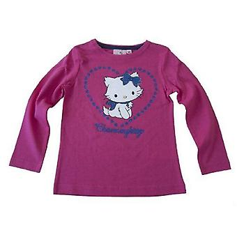 Sanrio Hello Kitty - Charmmy Hearts Girls Long Sleeve TopT-Shirt