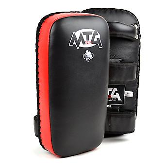 MTG Pro Black-Red Leather Thai Pads