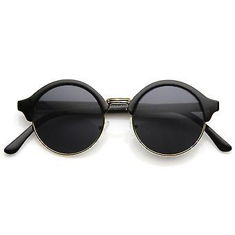 Vintage Inspired klassieke halve Frame semi-naadloze ronde cirkel zonnebril