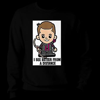 Lil Hawkeye I See Better From A Distance Men's Sweatshirt