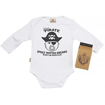 Spoilt Rotten SR Dreams Future Pirate Babygrow 100% Organic Cotton