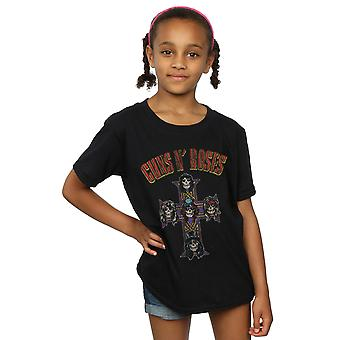 Guns N' Roses ragazze Appetite For Destruction croce ad arco tipo t-shirt