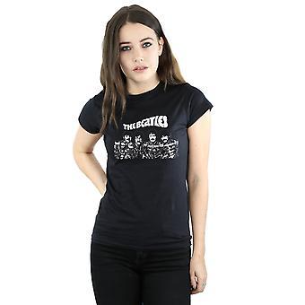Cartoon de las mujeres de los Beatles tiro t-shirt