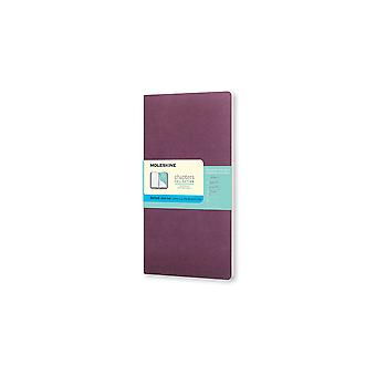 Moleskine Chapters Journal Slim Large Dotted Plum Purple Cover (Journal) by Moleskine S.P.A.