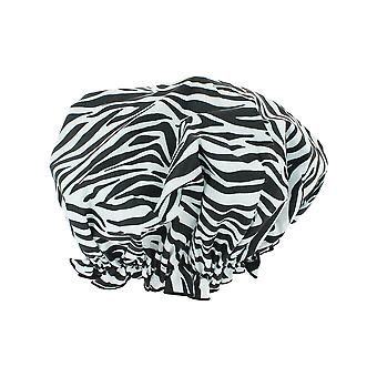 Hydrea Eco-Friendly PEVA Shower Cap Zebra Print