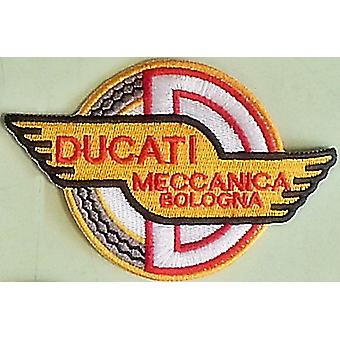 Ducati Meccanica Bologna (colour version) sew-on embroidered patch (yy)