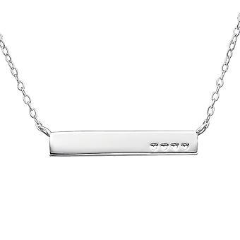 Hjertet Inline - 925 Sterling Sølv Plain halskæder - W22361X