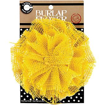 Burlap Flower Yellow Burflwr 3029