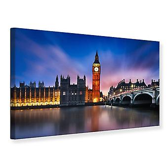 Canvas Print At Night On Big Ben