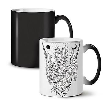 Crazy Crow Bird Life NEW Black Colour Changing Tea Coffee Ceramic Mug 11 oz | Wellcoda