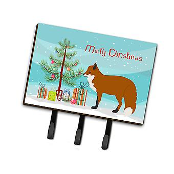 Carolines Treasures  BB9243TH68 Red Fox Christmas Leash or Key Holder