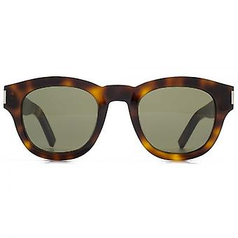 Saint Laurent Bold 2 Sunglasses In Havana Green