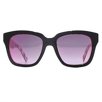 Marc Jacobs Square Sunglasses In Black Fuchsia Glitter