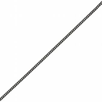 9ct White Gold 1mm wide bright cut Curb Pendant Chain 16 inches Only Suitable for Children
