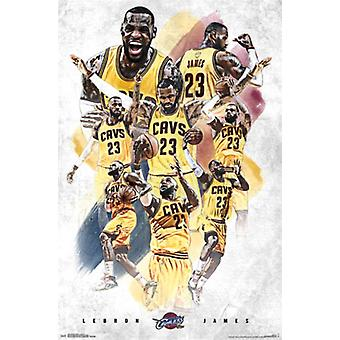 Cleveland Cavaliers - Lebron James 15 Poster Print