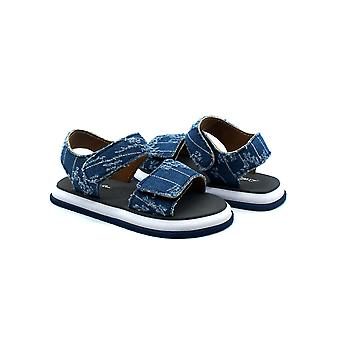 Atlantis Shoes Kids Unisex Girls & Boys Supportive Cushioned Comfortable Sandals Cowboy Grey