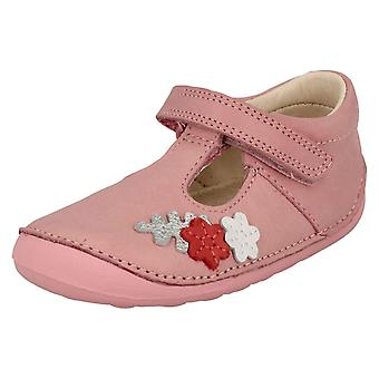 Girls Clarks First T-Bar Shoes Tiny Blossom
