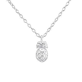 Ananas - 925 Sterling Silber Plain Halsketten - W36502x