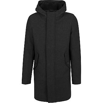 Urban classics - structured hooded parka charcoal