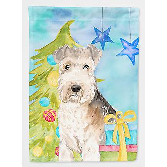 Carolines Treasures  CK1873GF Christmas Tree Lakeland Terrier Flag Garden Size