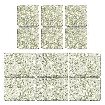 Pimpernel Marigold Green Placemats and Coasters Set