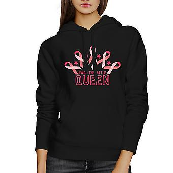 Won The Battle Queen Unisex Black Hoody For Breast Cancer Support
