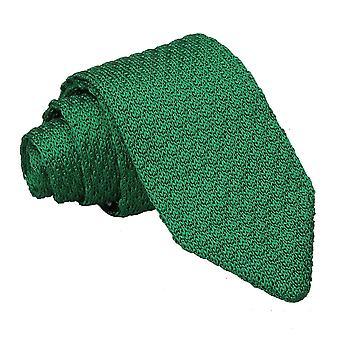 Tricot de soie Grenadine vert émeraude cravate Slim