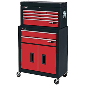 Draper 80927 Two Drawer Roller Cabinet And Six Drawer Tool Chest